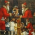 Ubrousek vánoční - Santa s dětmi