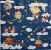 Ubrousek vánoční - Santové v oblacích
