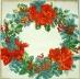 Ubrousek vánoční - věnec s cesmínou