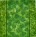 Ubrousek vzorovaný - listy zelené