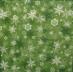 Ubrousek vzorovaný - vločky zelené
