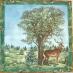 Ubrousek zvířata - jelen v lese