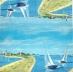 Ubrousek mořský svět - plachetnice v zátoce