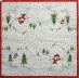 Ubrousek vánoční - sněhuláci v horách