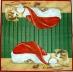 Ubrousek vánoční - kočka s čepicí