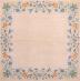 Ubrousek vzorovaný - květinový ubrus, modré kvítky