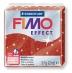 Fimo effect - červená se třpytkami 57g