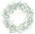 Papír na scrapbooking - věnec z eukalyptu